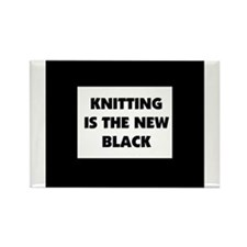 Knitting Is The New Black Rectangle Magnet