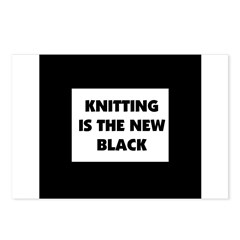 Knitting Is The New Black Postcards (Package of 8)