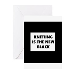 Knitting Is The New Black Greeting Cards (Pk of 20