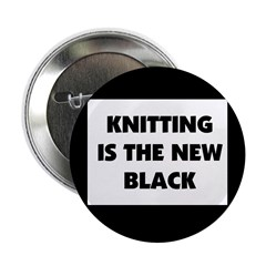 Knitting Is The New Black Button