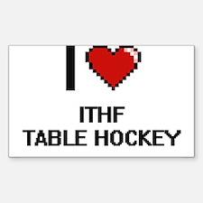 I Love Ithf Table Hockey Digital Design Decal