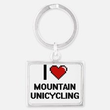 Cute Unicycling Landscape Keychain