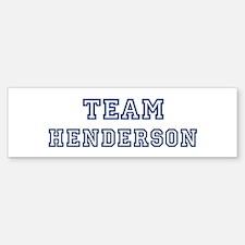 Team Henderson Bumper Bumper Bumper Sticker