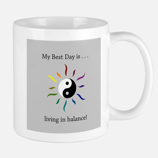 Best Day Yin Yang Rainbow Sun Mugs
