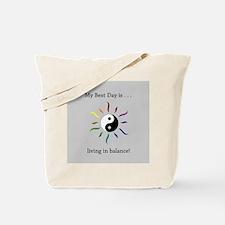 Best Day Yin Yang Rainbow Sun Tote Bag