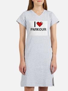 I Love Parkour Digital Design Women's Nightshirt