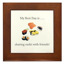 Best Day Sharing Sushi Gifts Framed Tile
