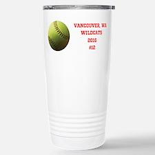 Yellow Softball Team Stainless Steel Travel Mug