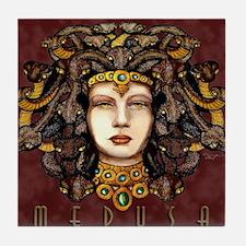 Medusa Burgundy Tile Coaster
