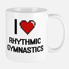 I Love Rhythmic Gymnastics Digital Design Mugs