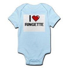 I Love Ringette Digital Design Body Suit