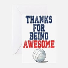 Thanks Awesome Volleyball Card s Greeting Cards