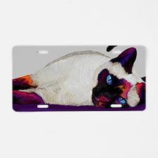 Galactic cat Aluminum License Plate