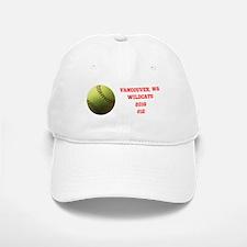 Yellow Softball Team Design Baseball Baseball Baseball Cap