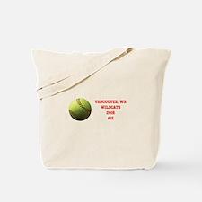 Yellow Softball Team Design Tote Bag