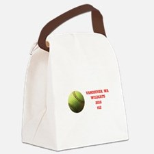 Yellow Softball Team Design Canvas Lunch Bag