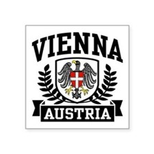 "Unique Austrian eagle Square Sticker 3"" x 3"""