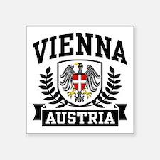 """Unique Austrian eagle Square Sticker 3"""" x 3"""""""