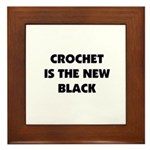 Crochet Is the New Black Framed Tile