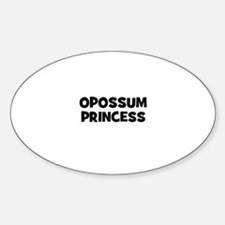 opossum princess Oval Decal