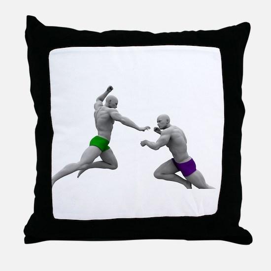 Martial Arts Conce Throw Pillow