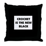 Crochet Is the New Black Throw Pillow