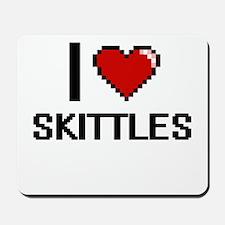 I Love Skittles Digital Design Mousepad
