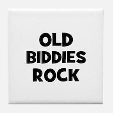 Old Biddies Rock Tile Coaster