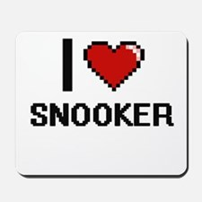 I Love Snooker Digital Design Mousepad