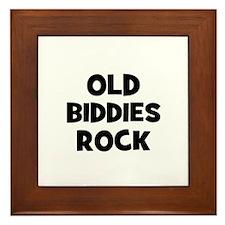 Old Biddies Rock Framed Tile