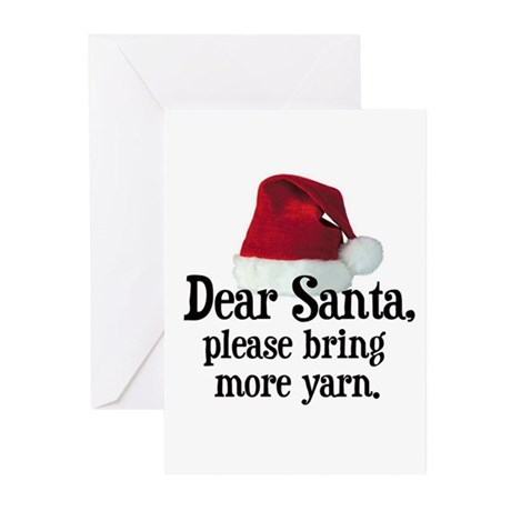 Santa Bring More Yarn Greeting Cards (Pk of 10)