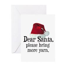 Santa Bring More Yarn Greeting Card