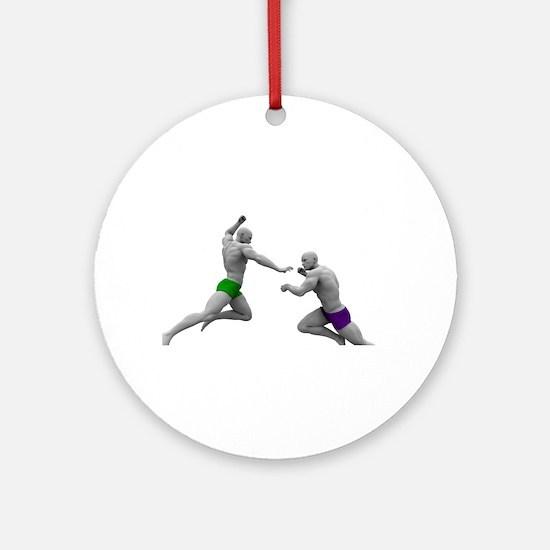 Martial Arts Conce Round Ornament