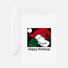 Knitting - Happy Holidays Greeting Card