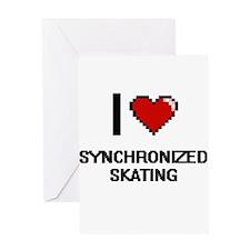 I Love Synchronized Skating Digital Greeting Cards