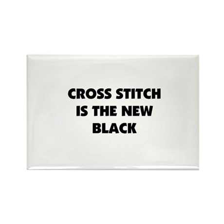 Cross Stitch is the New Black Rectangle Magnet (10