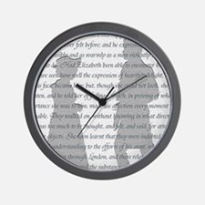 Pride and Prejudice Wall Clock