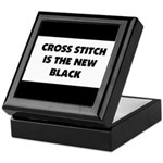 Cross Stitch is the New Black Keepsake Box