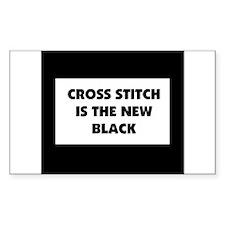 Cross Stitch is the New Black Sticker (Rectangular