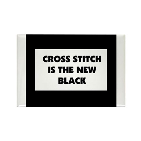 Cross Stitch is the New Black Rectangle Magnet