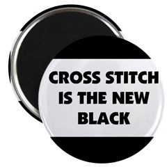 """Cross Stitch is the New Black 2.25"""" Magnet (10 pac"""
