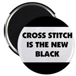 Cross Stitch is the New Black Magnet