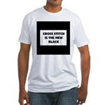 Cross Stitch is the New Black Fitted T-Shirt