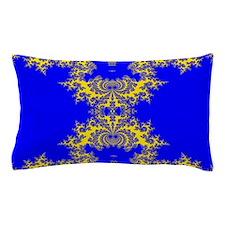 Blue Fractals Pillow Case
