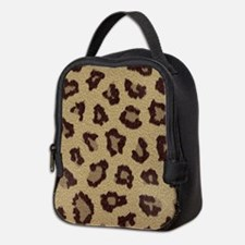 Leopard Print Neoprene Lunch Bag