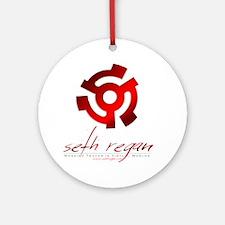 Seth Regan Logo Round Ornament