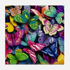 Field of Butterflies Tile Coaster