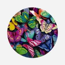 Field of Butterflies Round Ornament