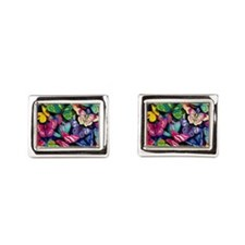 Field of Butterflies Rectangular Cufflinks