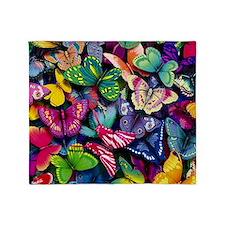 Field of Butterflies Throw Blanket